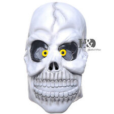 Adult Latex Cross-eyes Skull Horror Halloween Masks Costumes Party Cosplay Dress