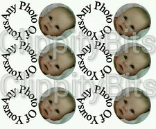 "50x 1"" Inch Pre Cut Bottle Cap Images Any Images, Wording or Pictures Bows Craft"