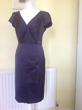 EXQUISITE MONSOON PEWTER GREY SATIN DRESS UK 14