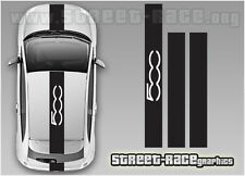 Fiat 500 OTT racing stripes 005 decals stickers graphics
