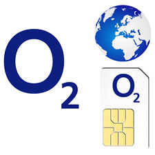O2 international pay as you go payg carte SIM pour téléphones mobiles unlocked