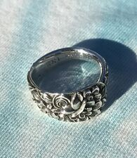 Sterling Silver S. Kirk & Son Co. REPOUSSE Demitasse Spoon Ring Hand Crafted
