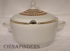 HUTSCHENREUTHER china LUXOR-GOLD pattern Round Covered Vegetable Serving Bowl