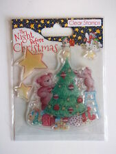 The Night Before Christmas Clear Stamps - Teddy Bears & Tree