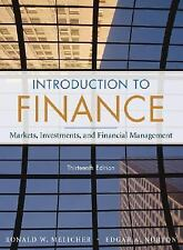 Introduction to Finance Markets Investments and Financial Management