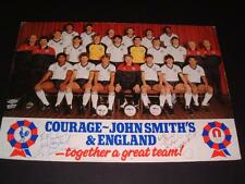 ENGLAND 1984 SQUAD RARE PROMO CARD HAND SIGNED BY PAUL MARINER AND GRAHAM RIX
