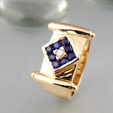 Ring mit Saphiren + Brillant in 750/18k Gelbgold