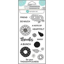 "Hampton Art Layering Clear Stamps 4""x8"" - Flower Thanks - #823"