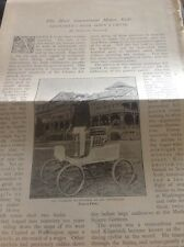 M51-3 1896 Ephemera 3 Pages Charles Kilpatrick Motor Car Stunt Rider Usa