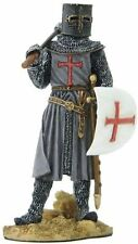 """3.5"""" Armored Crusader Holding Shield and Axe Statue Figurine Medieval Times"""