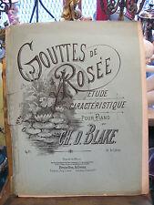 Partition Gouttes de Rosée Ch d Blake pour Piano