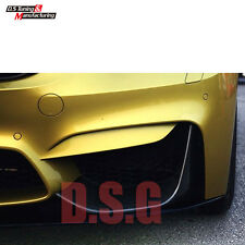 2 PCS ADD-ON CARBON FIBER FRONT BUMPER SPLITTER LIP FOR BMW F80 M3 M42015-2017