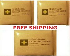 "HEMOSTATIC BLOOD STOP CLOT POWDER! 60 GRAMS. ""3 PACK"" IFAK EMT FIRST AID"