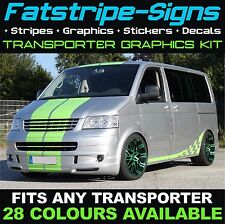VW TRANSPORTER T4 T5 STRIPES VINYL GRAPHICS DECALS STICKERS SWB LWB T6 DAY VAN