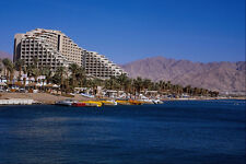 695023 Beach View Of Jordan And Dan Hotel Eilat Red Sea A4 Photo Print