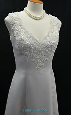 Sweetheart Gowns blush satin beaded pink Wedding Dress Bridal gown train 8 NEW