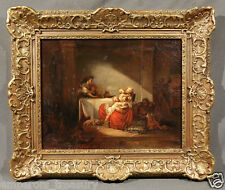 Early 19th Century English Oil Painting Mother and Children
