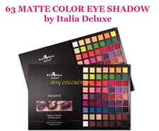 ITALIA DELUXE -THE MATTE 63 COLORS PALETTE Great Quality Eye Shadow *US SELLER*
