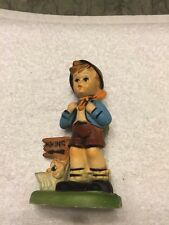 Hummel Look-Alike Plastic Boy Hiking Figurine