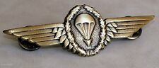 German Germany Army Airborne Jump Parachutist  Full Size Bronze Metal Wing Badge