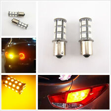 2 Pcs 18SMD 5050 18 LED Yellow/Amber Tail Turn Signal Lights Bulb 1156 BA15S T20