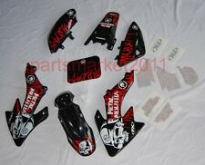Black Plastics & 3M MM Decals Graphics For Honda CRF50 XR50 bikes Thumpstar SSR