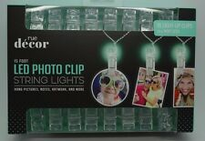 16 Light Up Hanging Photo Notes Artwork Clips With Mint Green Led String Light