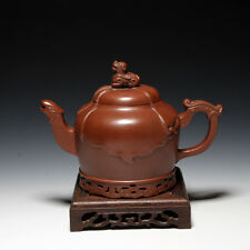 5000friend-Museum Quality Chinese Yixing Zisha Pottery Old 380cc Teapot