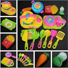 17x Baby Kid Kitchen House Play Toy Utensil Pot Cooking Food Pan Dishes Cookware