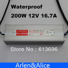 200W 12V 16.7A Waterproof outdoor Single Output Switching power supply for LED