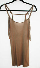 FOREVER 21 ARMY GREEN FRINGE STRAP TANK RAYON TOP XS FREE SHIPPING