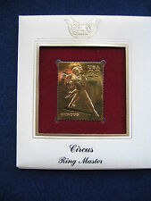 1993 Circus Ring Master First Day 22kt Gold Golden Cover Replica FDC FDI Stamp