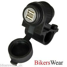 Oxford USB Dual Socket Weatherproof Motorcycle Power Accessory NEW 2013