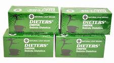 """4 Cajas De Dieta """"Copa Bebida Dietetica Natural Hoja Marca Dieta 72 bolsa de té"""