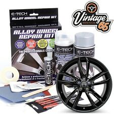 Alloy Wheel Black Proffessional Refurbishment Scratch Scuff Kerb Repair Kit
