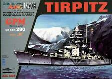 Battleship DKM Tirpitz paper model 1:200 huge 125cm