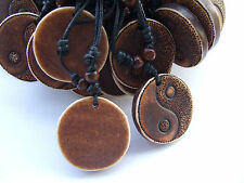 Wholesale 12pcs Brown Resin Ying Yin Yang Charms Pendant Surf Necklace