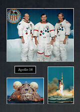 Apollo 16 16x12 Mounted Crew Photo Astronaut Space Montage