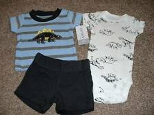 Carter's Baby Boy Dinosaur 3pc Shorts Outfit Set Clothes Size NB Newborn NWT NEW