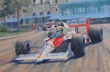 Ayrton Senna McLaren F1 Formula Motor Sport Racing Classic Car Art Print
