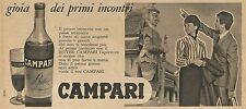 W8309 Bitter Campari gioia dei primi incontri - Pubblicità 1962 - Advertising