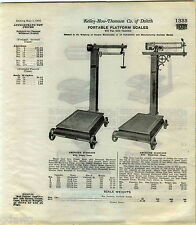 1916 ADVERT American Standard Portable Platform Scale Warehouse Empire Grocery