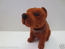 Pit Bull Dog  / Mahogany Bobbing Head Dog /  Bobble Head Toy