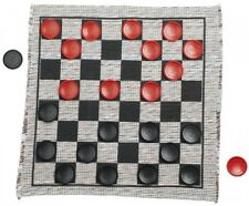 Jumbo Checker Rug Game, New, Free Shipping
