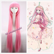 100cm 39 inch Adventure Time Princess Bubblegum Long Straight Pink Cosplay Wig