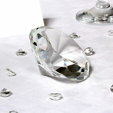 10 x Large Stunning Wedding Table Clear Crystal Diamond Decoration 7cm EF