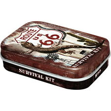 NOSTALGIE Pillendose ROUTE 66 SURVIVAL KIT mit Pfefferminz Dragees NEU* OVP