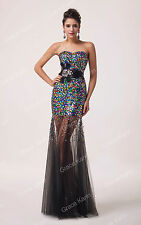Sexy Mermaid Long Prom Party Wedding Ball Gown Formal Cocktail Evening dresses