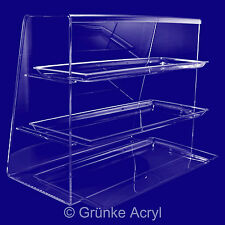 Acrylic counter top No 3 serve over display case cabinet bakery butcher's cake