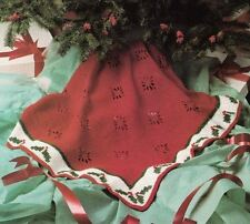Crochet Pattern Traditional Christmas Holly Afghan Throw
